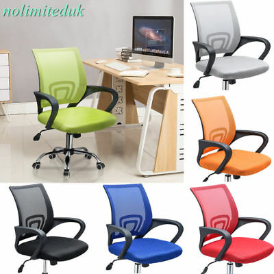 360° Swivel Lift Office Home Chair Desk Computer Gaming Study Chairs Mesh Seat