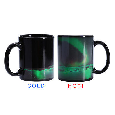 Aurora Mug Heat Sensitive Color Changing Coffee Tea Cup Ceramic Magic Mug Gift
