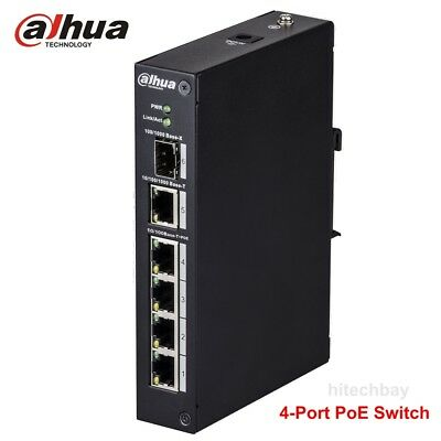 Dahua PFS3106-4P-60 4-Port PoE Switch Unmanaged Support IEEE802.3af  IEEE802.3at