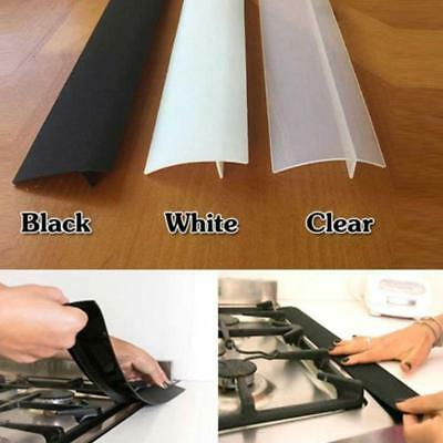 Silicone Kitchen Stove Counter Gap Cover Oven Guard Spill Seal Slit Filler DEKOR