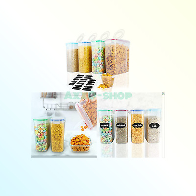 Cereal Container,MCIRCO Food Storage Containers,Airtight Flour Containers Kee...