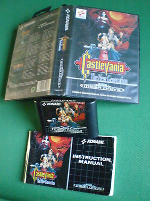 SEGA MEGADRIVE CASTLEVANIA The New Generation Complet Boxed Manual PAL