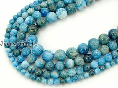 Natural Apatite Gemstone Round Beads 15.5'' Strand 4mm 6mm 8mm 10mm 12mm