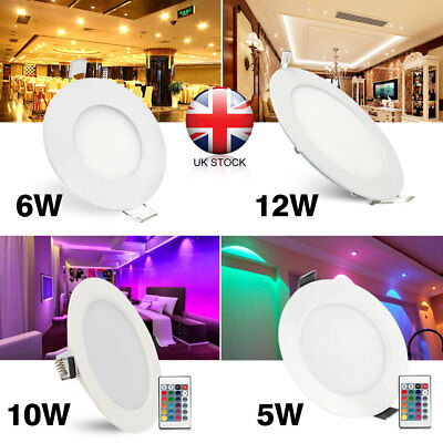 5W 6W 10W 12W Surface Mounted LED Round Recessed Ceiling Flat Panel Down Light