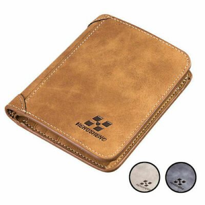 Mens Faux Leather Wallet Slim Multi Card Slots Holder 2 Types Small Soft Purse