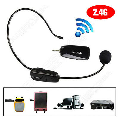 Voice Amplifier Booster With 2.4G Wireless Microphone Headset For Loudspeaker