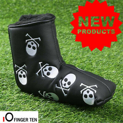 PU Leather Golf Putter Cover Waterproof 1 Pc Skull Club Mallet Head Covers Ideal