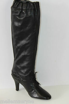 Boots ANDRE Leather Elastic Black T 36 VERY GOOD CONDITION