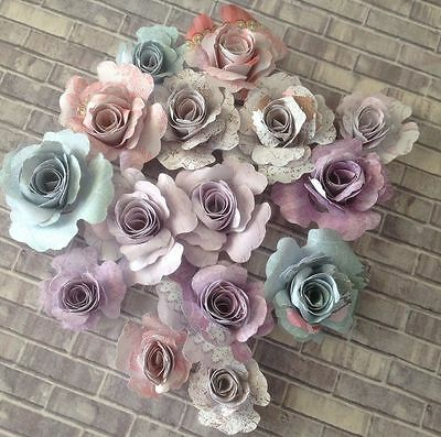 Gorgeous Vintage-Shabby Collections Handmade Paper Roses