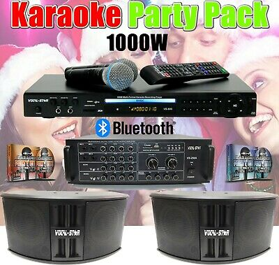 Vocal-Star Cdg Disc & Bluetooth Karaoke Machine 2 Microphones & 40 Songs (Pb)