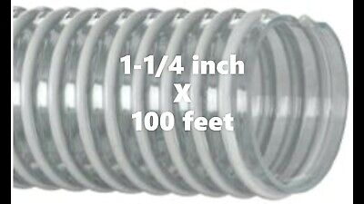 "100ft. Roll of Kanaflex 100 CL 1-1/4"" - Corrugated Clear PVC Water Suction Hose"