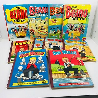 10 X Oor Wullie And The Beano Books Annuals > B234