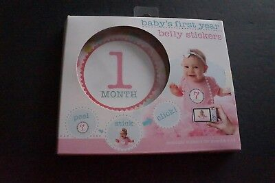 Stepping Stones Baby's First Year Belly Stickers Peel Stick Click