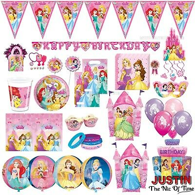 DISNEY PRINCESS Girls Birthday Party Pink Supplies Tableware & Decorations