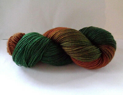Hand dyed sock yarn soft merino wool nylon fingering weight sw painted 467yds