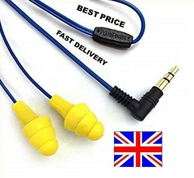 Original Plugfones Yellow 🚀 Earplug that play Music 👌 Free P&P UK 🔥