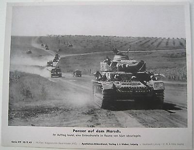 Original 1943 German press large print photo PANZER IV tanks vehicles east front
