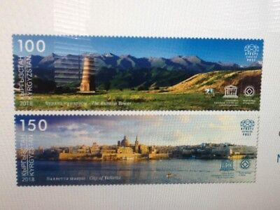 Malta 2018 - Kyrgyzstan-Malta Joint Stamp Issue Set 0f 2 Mint NH VF