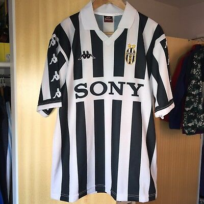 Kappa Sony Juventus 1990's Prototype Home Shirt - Size L/XL - Mint Condition