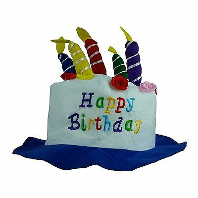 Fun Express Felt Childs Party Happy Birthday Cake Hat With Candles