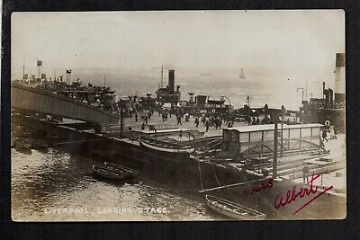 Liverpool - Landing Stage - real photographic postcard