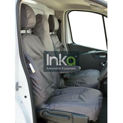 Renault Traffic MK 3 Front INKA Fully Tailored Waterproof Seat Covers Grey