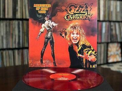 "OZZY OSBOURNE ""MONSTERS OF ROCK 1986"" Clear Red Vinyl"
