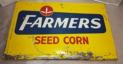 Vintage FARMERS Seed CORN Metal Sign 34 1/2'' x 23''