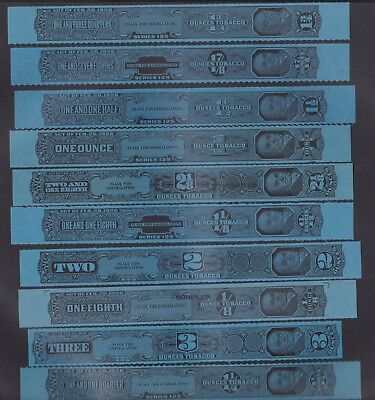 US 19 Vintage Tobacco Tax Strips Series 125 Perforated  (L114)