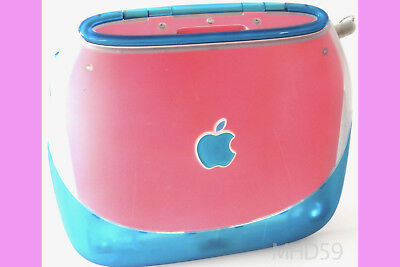 "Apple iBook Clamshell G3 ""PINK BLUEBERRY"" 10GB HD 320 RAM = GREAT  ⭐️⭐️⭐️⭐️⭐"