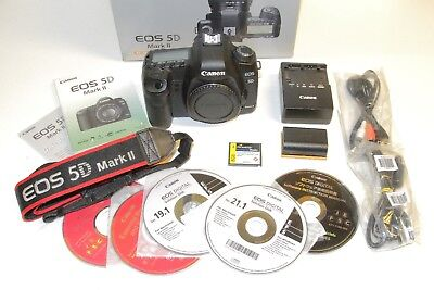 Canon EOS 5D Mark II 21.1MP Digital SLR Camera Body Only Shutter Count 49,233
