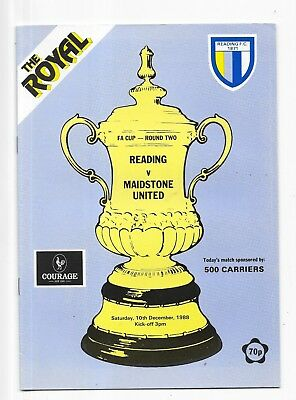 Reading v Maidstone United FA Cup 2nd Round 10/12/1988