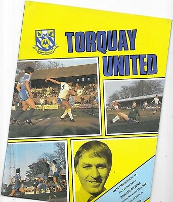 Torquay United v Barton Rovers FA Cup 1st Round 22/11/1980