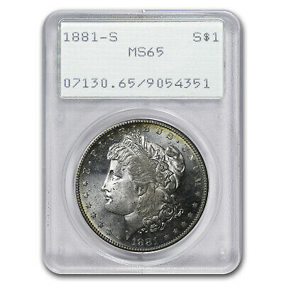 1881-S Morgan Dollar MS-65 PCGS (Old Rattler Holder) - SKU#4544