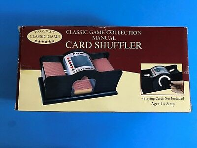 Classic Game Collection Manual Card Shuffler One or Two Decks