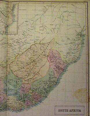 South Africa Orange River Sovereignty c.1854 color lithographed antique map
