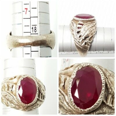 Fantastic rare ruby  pure silver ring