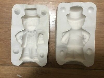 CERAMIC OR PORCELAIN SLIP CASTING MOULD OF A 3.5 inch LITTLE BOY WITH TOP HAT.