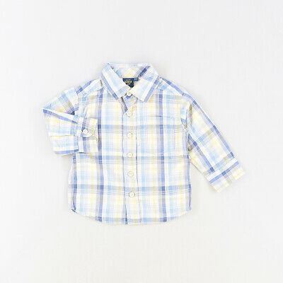 Camisa color Azul marca Oshkosh 12 Meses  519724