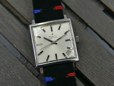 60's vintage watch mens ZENITH PRE RESPIRATOR AUTOMATIC cal 2542 PC square tank