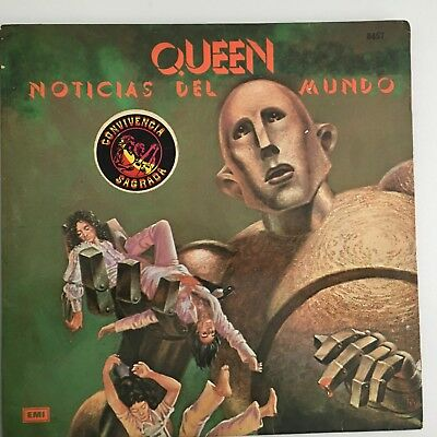 Queen - News of the world - ARGENTINA - first pressing - laminated sleeve inner