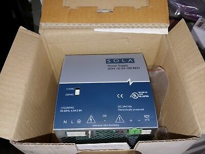 New Sola Hevi-Duty Sdn10-24-100 Red Power Supply