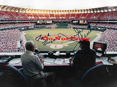 Jack Buck And Mike Shannon autographed 8x10 photo RP