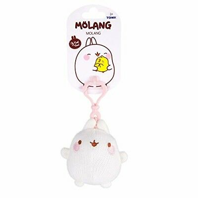 Molang L66055 Clip-On Soft Toy Asst Friends Keyring, Multi-Coloured