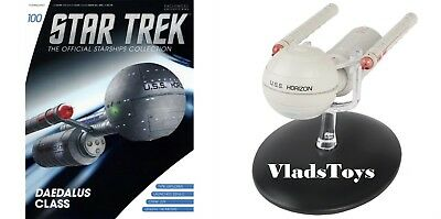 Eaglemoss Star Trek Daedalus Class USS Horizon NCC-176 Starship #100 w/Magazine