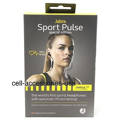 Jabra Sport Pulse Special Edition Sports Stereo Bluetooth Headphones Earbuds
