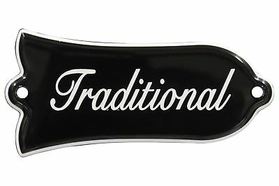 Engraved Traditional Truss Rod Cover for Gibson Les Paul