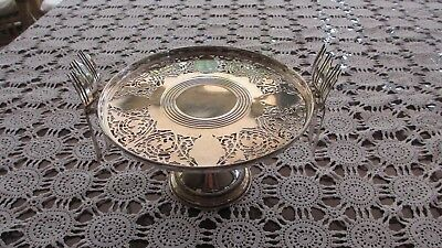 Vintage Silver Plated Serving Cake Stand Pedestal with 6 cake forks ,High Teas