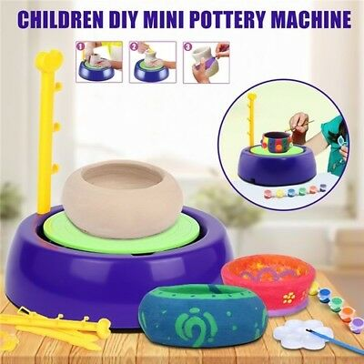 Portable Electric Pottery Machine Educational Christmas Gift Toys Kids Art Craft
