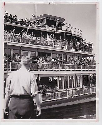 S.S. ROBERT FULTON by JOHN DEBIASE * New York from PM * VINTAGE 1951 photo